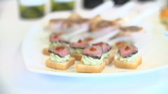 Selection of Canapes - stock footage