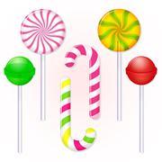 Stock Illustration of set of candies lollipop