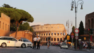 Stock Video Footage of New road rules in Rome around the Colosseum