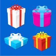 set of gift boxes - stock illustration