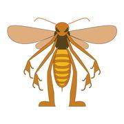 Anthropomorphic bee Stock Illustration