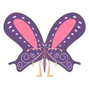 Anthropomorphic butterfly Stock Illustration