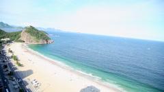 Rio de Janeiro beach view Stock Footage