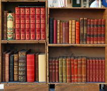 medieval books - stock photo