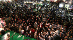 Italy, Milan, crowd on the exibition Stock Footage