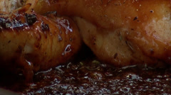 Chicken fried in oil unhealthy Stock Footage
