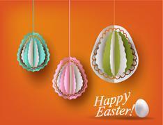 Easter eggs decoration vector illustration - stock illustration