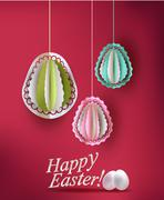 Easter eggs decoration vector illustration Stock Illustration