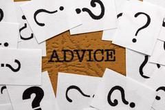 Advice and question mark Stock Photos