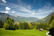 Stock Photo of landscape in the bavarian alps