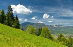landscape in the bavarian alps - stock photo