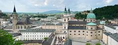 panorama of salzburg. austria - stock photo