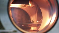pan to laser vacuum chamber - stock footage