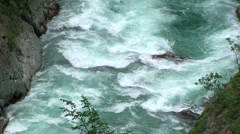 White waters rapids on River Moraca - stock footage
