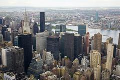 north-east view of manhattan - stock photo