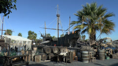 The Wharf of the Caravels, Huelva, Andalusia, Spain. Stock Footage