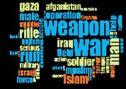 Stock Illustration of weapon war word cloud