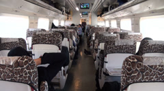 On board a modern Iranian train from Yazd to Tehran Stock Footage
