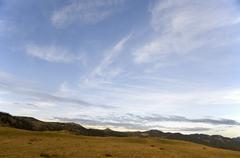 autumn cloudscape - stock photo