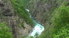 Deep canyon Moraca, Tilt up Stock Footage