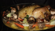 Stock Video Footage of Appetizing roast chicken