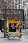 Expect delays Stock Photos