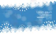 Stock Illustration of Winter background with snowflakes