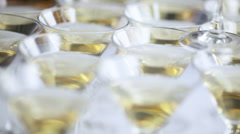 Champagne glasses. Stock Footage