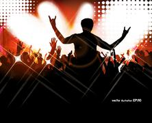 Stock Illustration of Dancing people. Vector