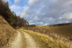 Upland bridleway Stock Photos