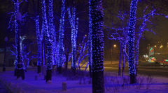 Christmas, New year time in the city, Moscow, Russia. Stock Footage