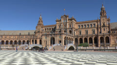 The Plaza de España in Seville, Andalusia, Spain. Stock Footage