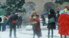 Rome in snow 25 (Gladiators) Stock Footage