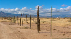 Desert Fence Stock Footage