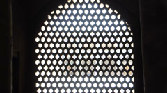 Mosque lattice. Shiraz, Iran - stock footage