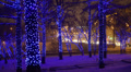 Christmas, New year time in the city, Moscow, Russia. Footage