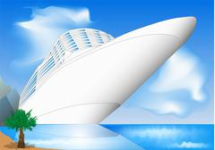 Cruise ship Stock Illustration
