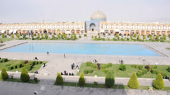 Sheikh Lotf Allah Mosque in Isfahan, Iran - stock footage
