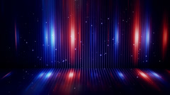 Blue and orange light and stripes loopable background Stock Footage