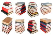 Stock Illustration of set from different angles stacks of books