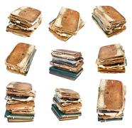Stock Illustration of set from different angles of old vintage book