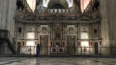 The Coro, Seville Cathedral (Catedral), Seville, Andalusia, Spain. Stock Footage