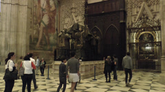 Seville Cathedral (Catedral), Seville, Andalusia, Spain. Stock Footage
