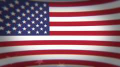 American Flag with floating stars Stock Footage