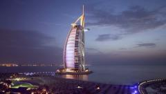 Burj Al Arab, Dubai Stock Footage