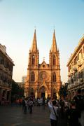 Sacred heart catholic cathedral in the guanzhou china Stock Photos