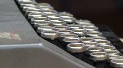 Typewriter keyboard Stock Footage