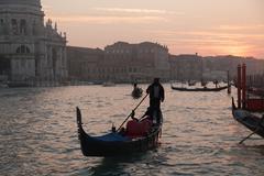 gondola in the grand channel - stock photo