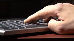 Hand on the keyboard Stock Footage