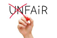 Fair not unfair Stock Photos